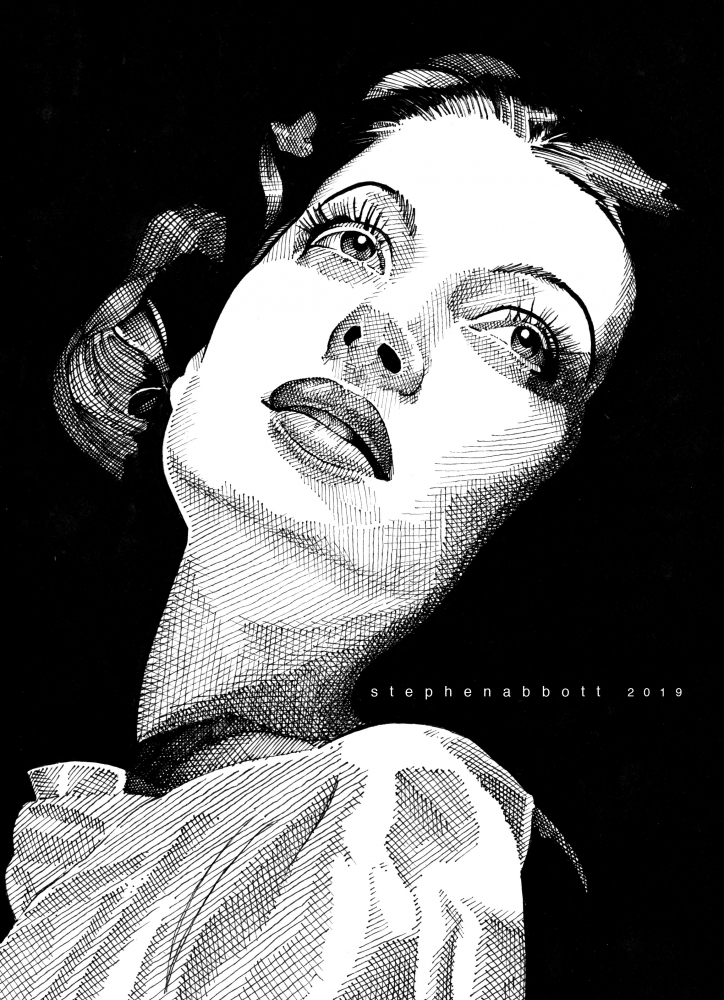 Loretta Young by Stefanosart